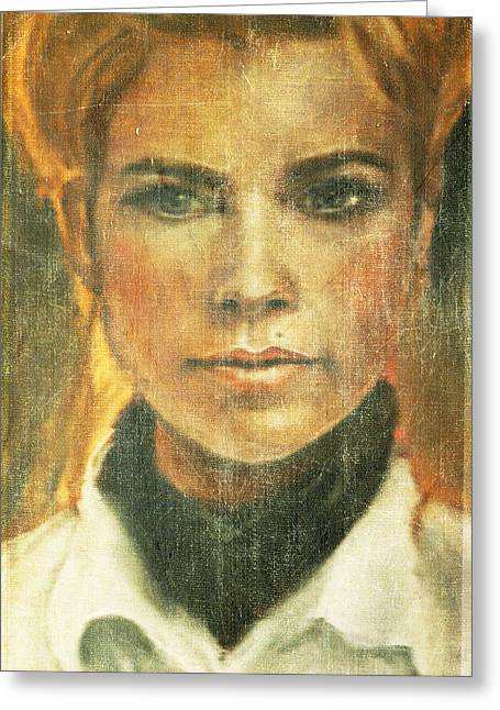 Self Portrait Greeting Card by Janet Kearns