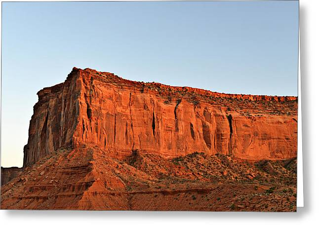 Sentinel Mesa Monument Valley Greeting Card by Christine Till