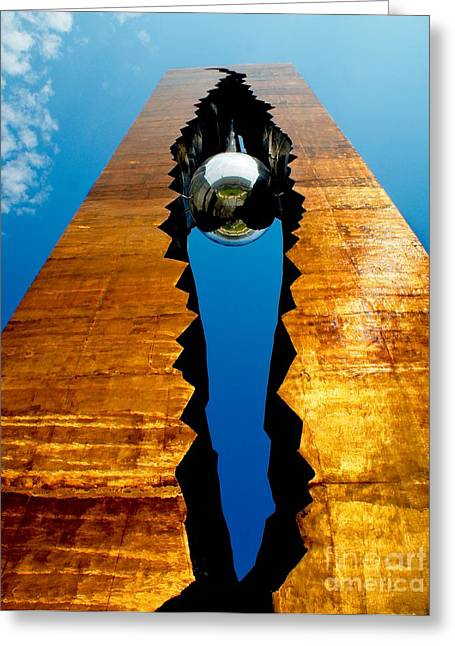 September 11th Tear Drop Greeting Card by Nick Zelinsky
