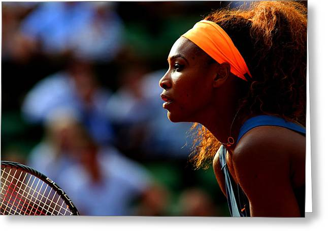 Serena Williams Greeting Card by Srdjan Petrovic
