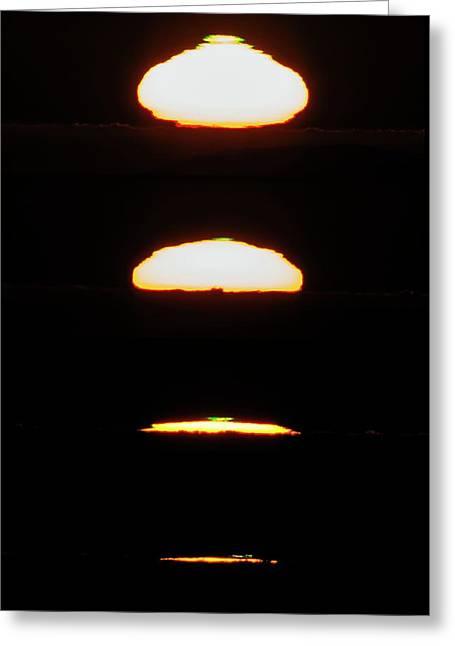 Setting Sun Greeting Card by Babak Tafreshi