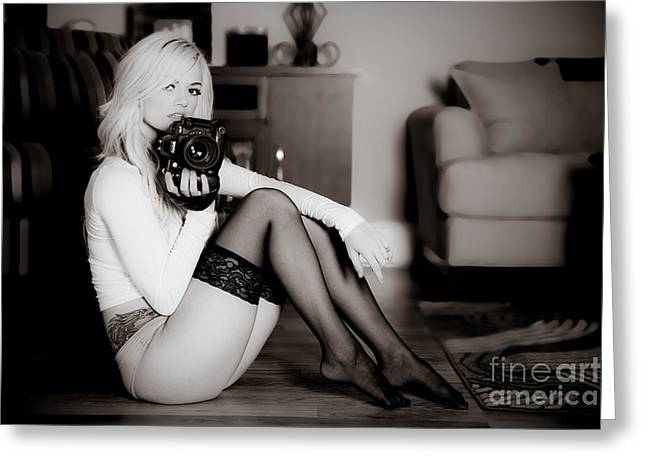 Sexy Photographer Greeting Card by Jt PhotoDesign