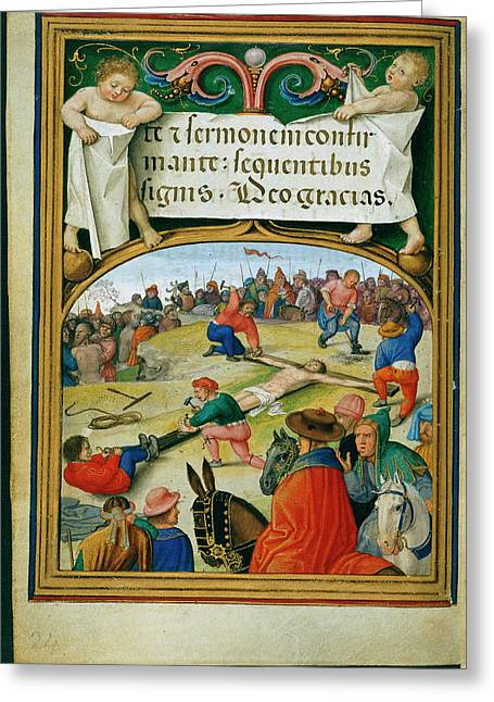 Sforza Hours Greeting Card by British Library