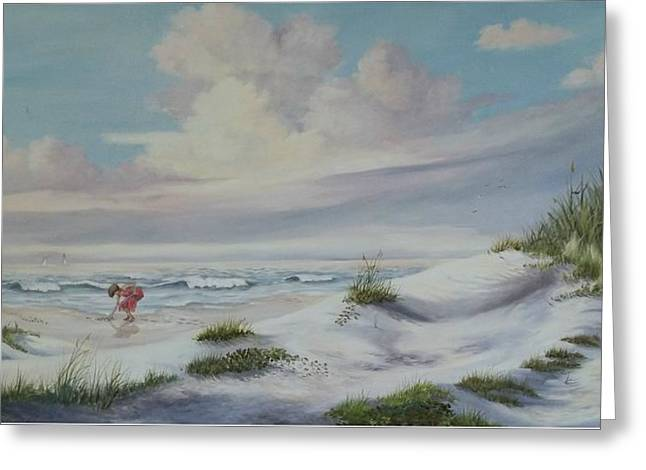 Shadows In The Sand Dunes Greeting Card