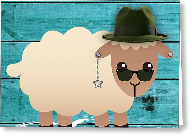 Sheep Collection Greeting Card by Marvin Blaine