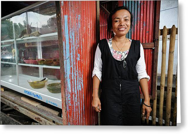 Shopkeeper With Leprosy Greeting Card