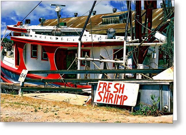 Shrimp Boat Greeting Card