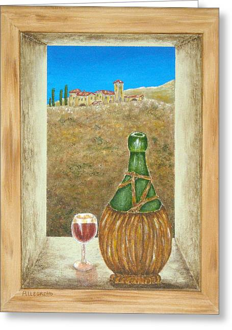 Sicilian View Greeting Card by Pamela Allegretto