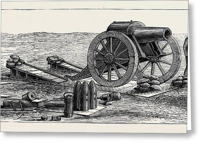 Siege Guns And Earthworks Greeting Card by English School