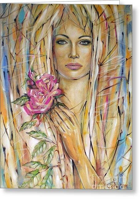 Silence Of Roses 020209 Greeting Card by Selena Boron