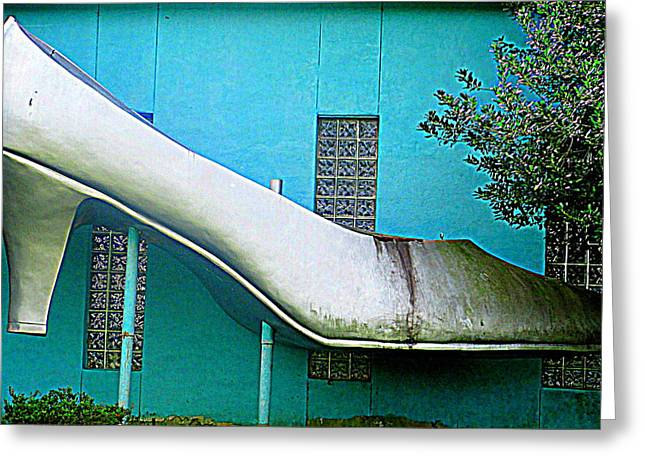 Silver Slipper Greeting Card by Randall Weidner