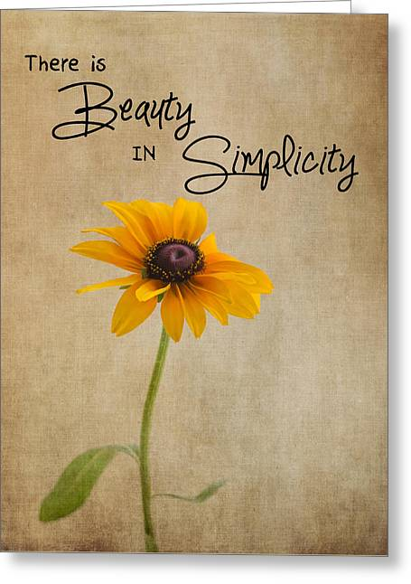 The Beauty Of Simplicity Greeting Card by Kim Hojnacki