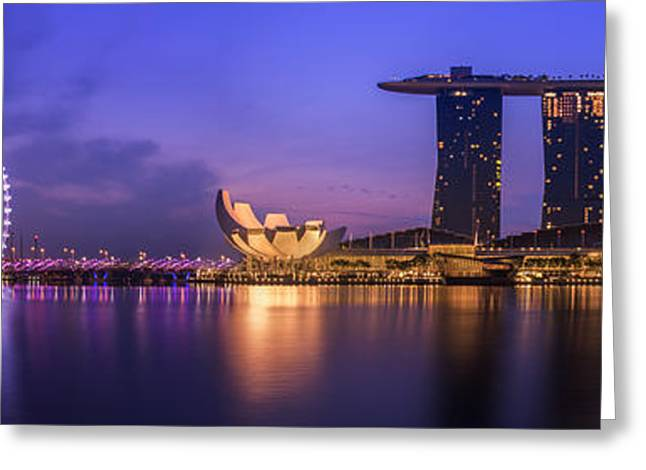 Singapore City Greeting Card by Anek Suwannaphoom