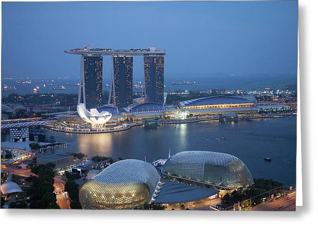 Singapore, Marina Bay Sands Hotel Greeting Card