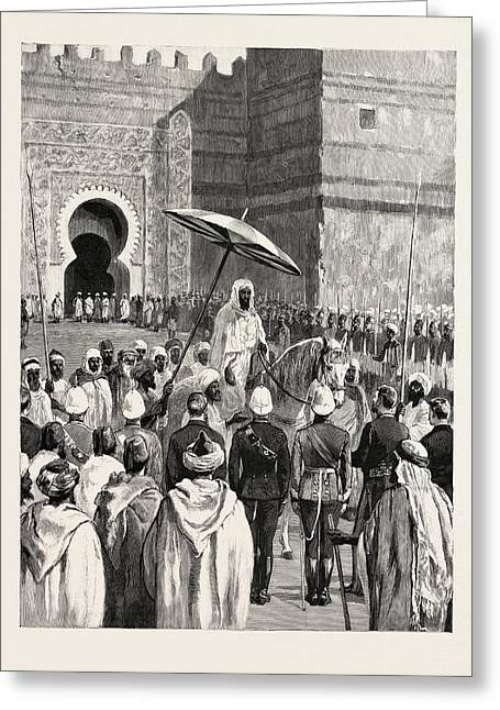 Sir Charles Euan-smiths Mission To The Court Of Morocco Greeting Card by Moroccan School