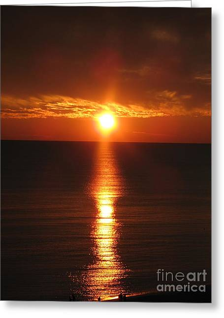 Sky On Fire Greeting Card by Christiane Schulze Art And Photography