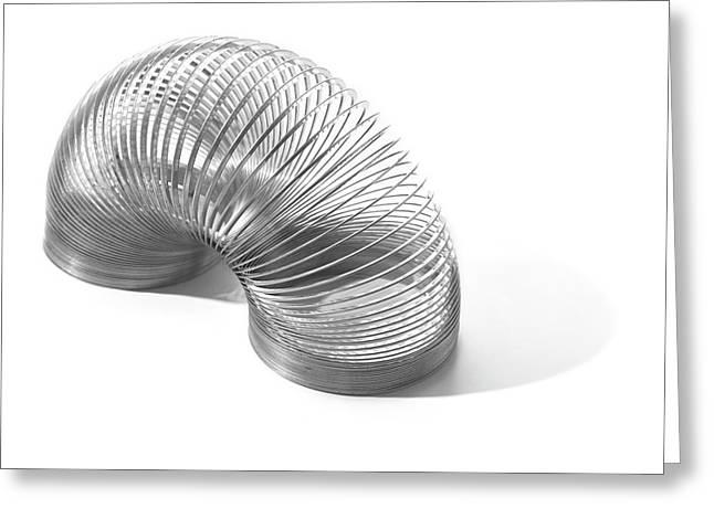 Slinky Spring Greeting Card