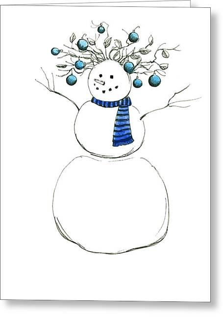 Greeting Card featuring the painting Snow Attire by Katherine Miller