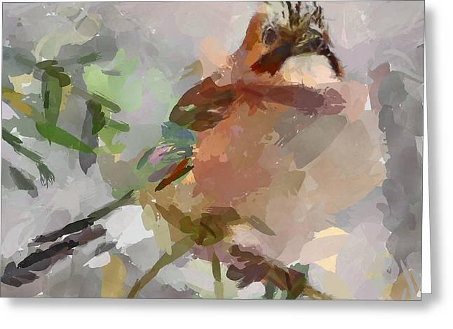 Snow Bird Greeting Card by Yury Malkov