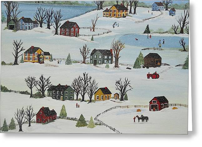 Snow Day Greeting Card by Virginia Coyle