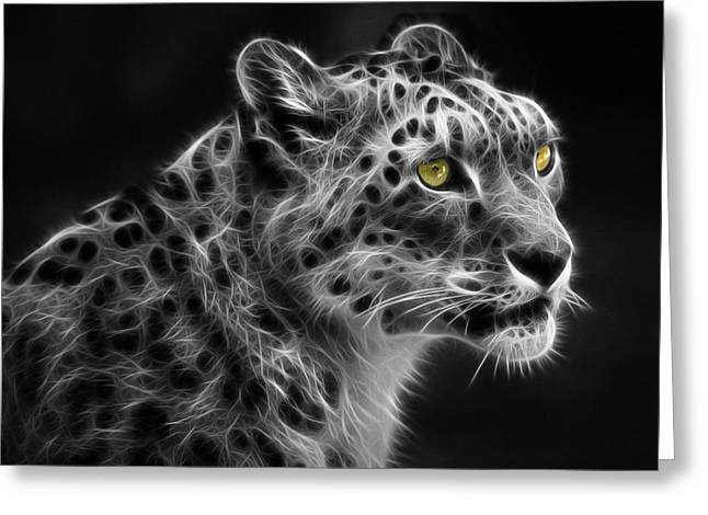 Snow Leopard Greeting Card