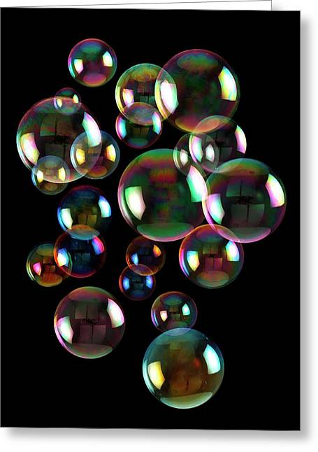 Soap Bubbles Greeting Card by Victor De Schwanberg