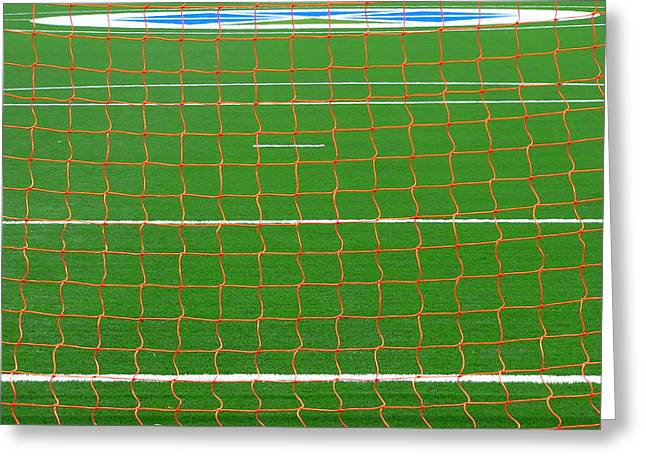 Soccer Net Greeting Card