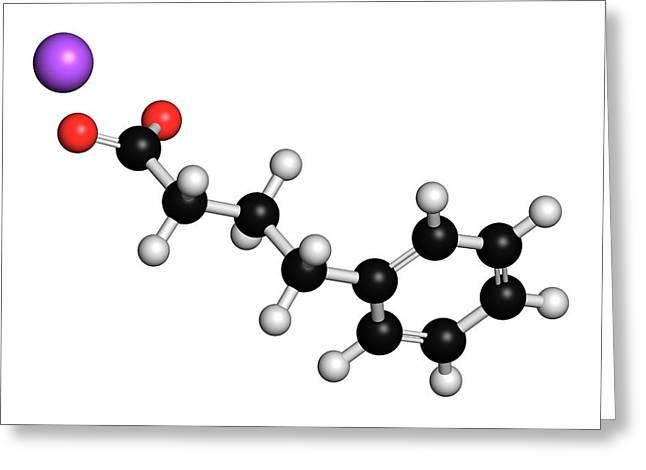 Sodium Phenylbutyrate Drug Molecule Greeting Card by Molekuul