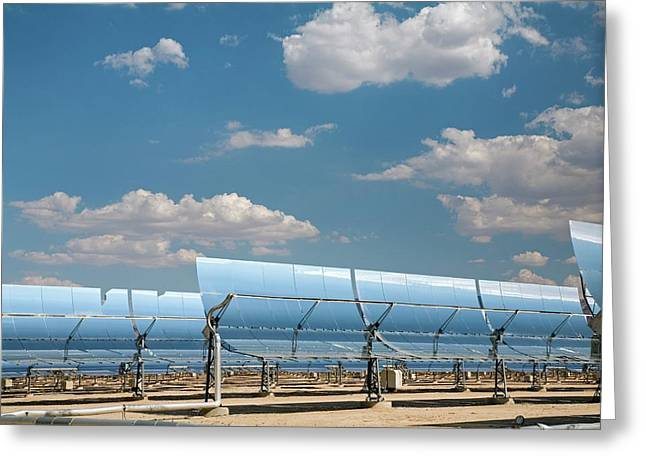 Solar Power Plant Greeting Card by Jim West