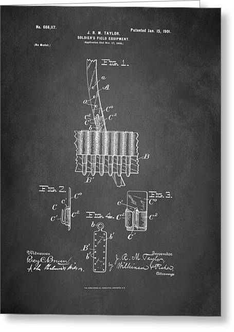 Soldier's Field Equipment Patent 1901 Greeting Card