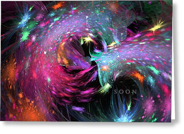Greeting Card featuring the digital art Soon by Margie Chapman