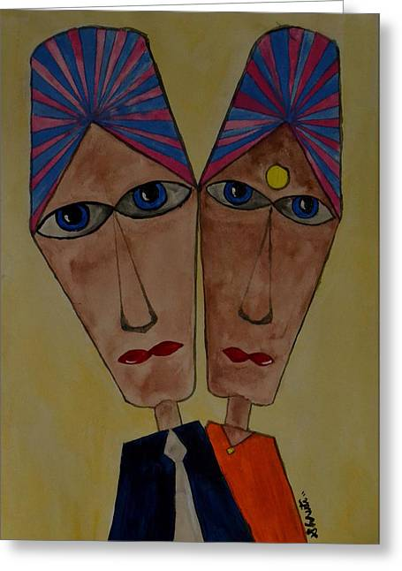 Soulmates Greeting Card by Shruti Prasad