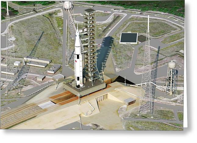 Space Launch System Greeting Card by Nasa