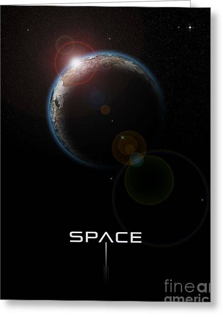Space Greeting Card by Phil Perkins