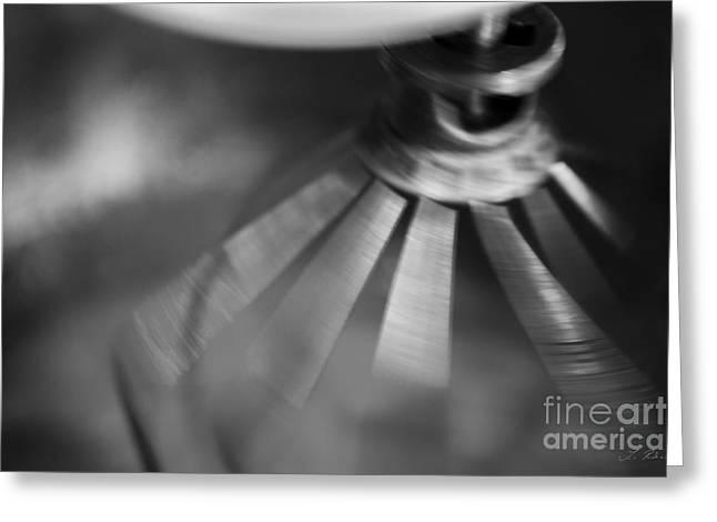 Spinning Mixer Greeting Card by Iris Richardson