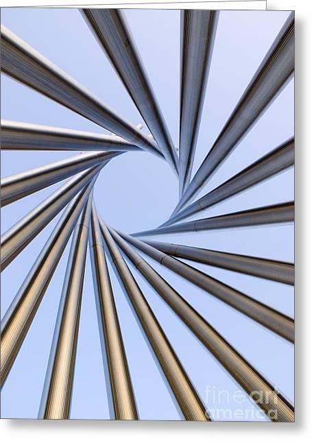 Spiral Metal Sculpture At Fermilab Greeting Card