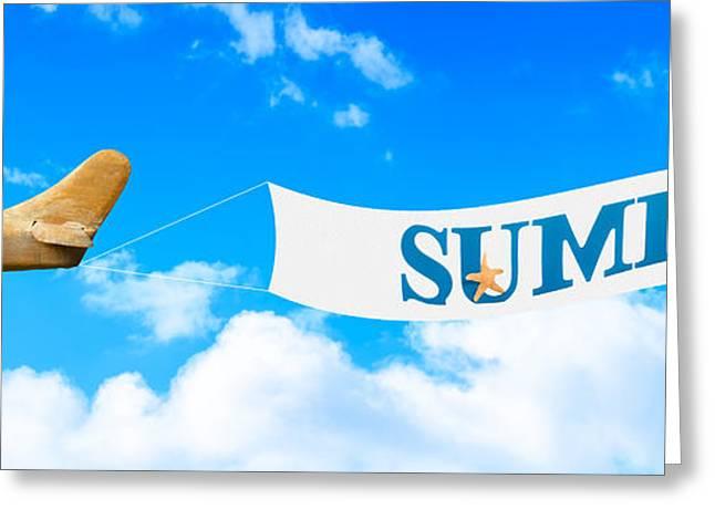 Summer Banner Greeting Card by Amanda Elwell