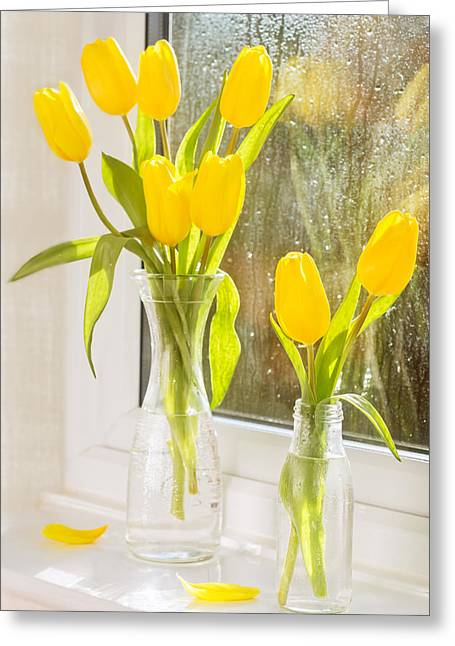 Spring Tulips Greeting Card by Amanda Elwell