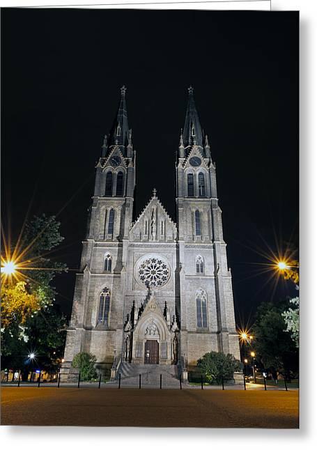 St. Ludmila Basilica. Greeting Card