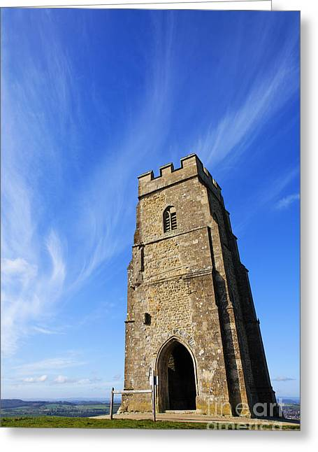 St Michaels Tower Glastonbury Tor Greeting Card by Robert Preston