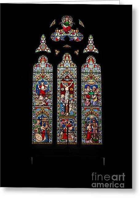 Stained Glass Greeting Card by Adrian Evans