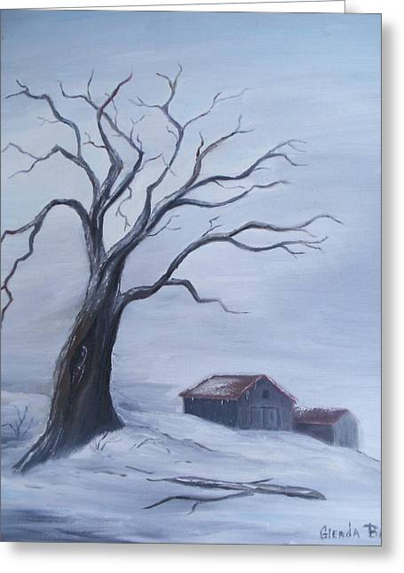 Standing Alone Greeting Card by Glenda Barrett