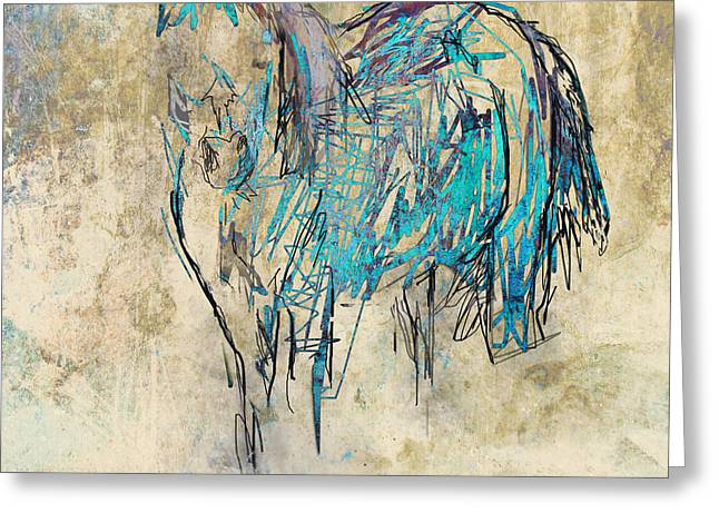 Standing Horse Greeting Card by Suzanne Powers