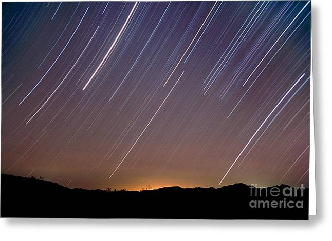 Star Trails Greeting Card by Chris Cook