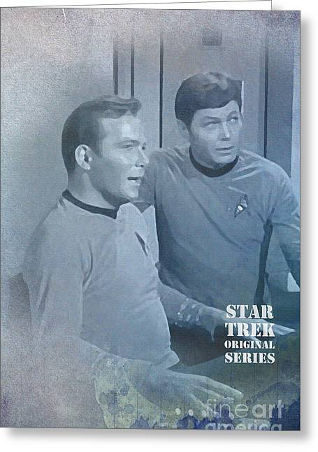 Star Trek Kirk And Mccoy Greeting Card