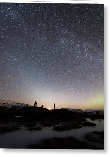 Stargazing Greeting Card by Tommy Eliassen