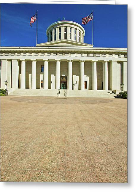 State Capitol Of Ohio, Columbus Greeting Card