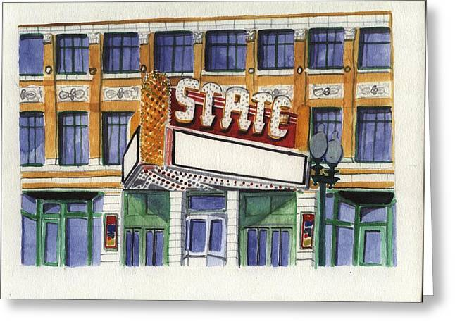State Theater Greeting Card by Rodger Ellingson