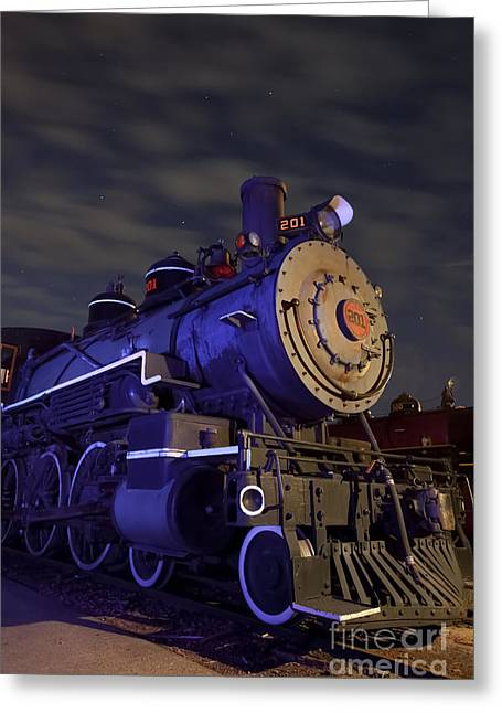 Steam Locomotive Greeting Card by Keith Kapple