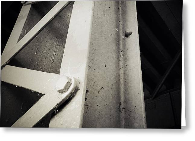 Steel Girder Greeting Card by Les Cunliffe